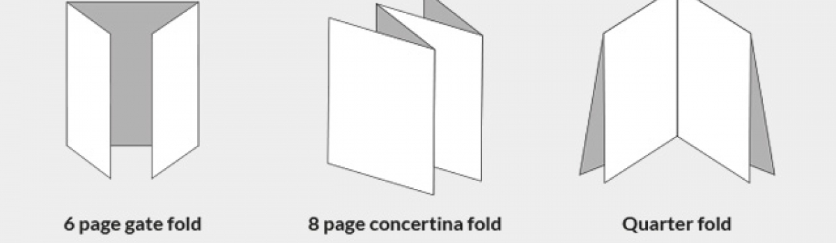 Folding options for printed items