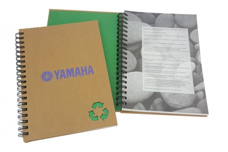 Custom notebook printing example