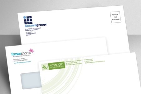 Envelope printing examples, Express Print & Mail