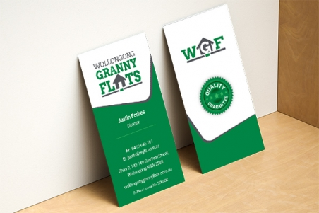 Vertical business card Express Print & Mail